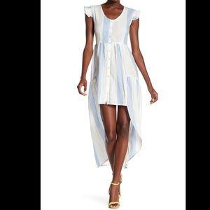 America & Beyond High Low Striped dress